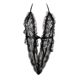 $enCountryForm.capitalKeyWord Canada - Sexy lingerie black lace teddy sexy costume open bra 3 point beach bikini lenceria sexy lingerie set KY234