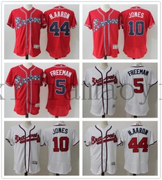 ... Atlanta Braves 44 Hank Aaron 10 Chipper Jones 5 Freddie Freeman Flex  Base Authentic Collection Player Wholesale Baseball Jerseys ... 1fa97ca61