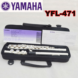 Discount closed hole flutes - Wholesale-Free Shipping High Quality Brand New Flute Case Silver YFL-471 Silver Plated 16 Closed Holes C Key Flute With
