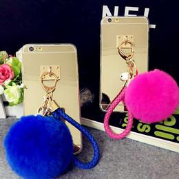 $enCountryForm.capitalKeyWord NZ - For Samsung galaxy s5 s6 s7 s8 edge plus Pretty Cute Weave fur ball Pompom Key chain mirror case cover