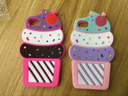 ice cream case for iphone 2019 - 3D Ice Cream Soft Silicone Case For Iphone XS MAX XR X 8 7 6 6S SE 5 Ipod Touch 6 5 Galaxy S9 S8 J3 J4 J6 J8 2018 Cute R