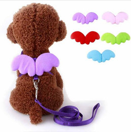 $enCountryForm.capitalKeyWord NZ - Cute Angel Pet Dog Leashes and Collars Set Puppy Leads for Small Dogs Cats Designer Wing Adjustable Dog Harness Pet Accessories HJIA1104