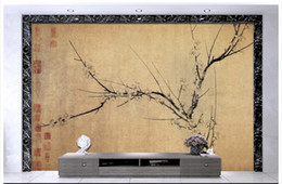 Bird Wallpapers For Living Room Canada - High Quality Custom 3d ceiling wallpaper murals wall paper Chinese classic flower and bird retro backg ceiling murals wall living room decor