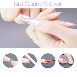 Barato Use Ferramentas De Arte De Unhas-1 folha Transparente Nail Guard Glue Peel Off Stickers Fácil de usar rapidamente Clean Nail Art Paiting UV Gel Polish Manicure Tool Gift
