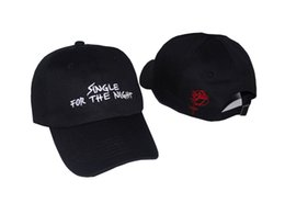 China 2017 NEW Single For The Night dad hat Almost Famous Kanye west Heart break album SNAPBACK Cap Real friends 6 panel drake hat bone gorras supplier single balls suppliers