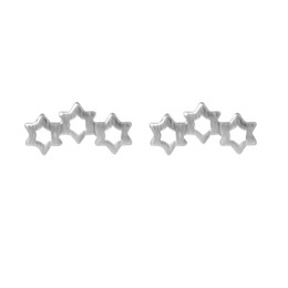 Discount cheap celtic charms - 5 pairs lot 925 Sterling Silver Three Star Cheap Stud Earrings for Women New Girls Gift Statement Jewelry Sterling-silve