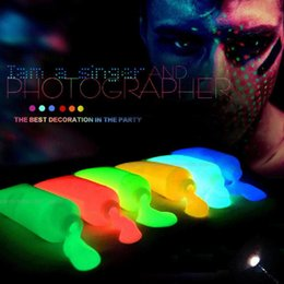 Painting Faces Australia - Luminous Body Makeup Flash Painting Colorful Drawing Pigment Face Paint Grease Art Glow Fancy Party Paint Non-toxic Chic