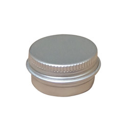 Makeup 5g Containers UK - 5ml Aluminum Balm Tins pot Jar 5g containers with screw thread Lip Balm Gloss Candle Packaging bottle wa2778