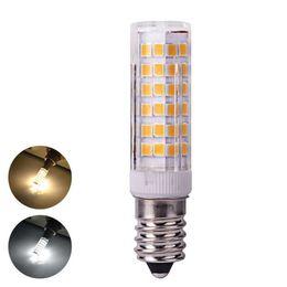 Smd Chips Australia - 10pcs lot 7W G4 G9 E14 Mini Corn Light AC220V 76 SMD 2835 Chip Lamp Crystal Lamp Ceramic Chandelier Lights Replace Halogen
