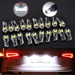 License pLate Lights online shopping - 20pcs Canbus T10 W5W LED SMD White Car Side Wedge Light Lamp Bulb license light V