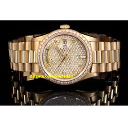 $enCountryForm.capitalKeyWord NZ - Christmas gift swiss Luxury watches top brand Yellow Gold President 18038 Champagne Pave Diamond Dial Bezel