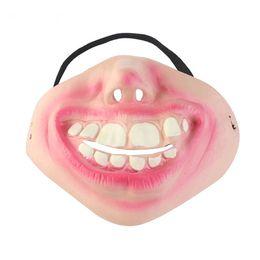 $enCountryForm.capitalKeyWord UK - Big Teeth Latex Mask for Movie Fancy Dress Hallowee Masquerade Party Horror Creepy Elastic Band Half Face Masks Funny Costume