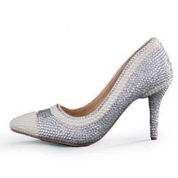$enCountryForm.capitalKeyWord UK - Sexy Pink Rhinestone Pointed Toe Bride Shoes Ankle Straps Gorgeous Wedding Evening Party Pumps Fashion Handmade Middle Heels