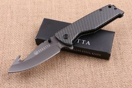 Chinese  Top Quality RETTA B Titanium Tactical Folding Knife 3Cr13Mov 56HRC Hook Camping Hunting Survival Pocket Knife Military Utility EDC Gift Tool manufacturers