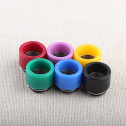 BaBy Bear Box online shopping - TFV8 Resin Drip Tip Colorful Wide Bore drip tips for TFV8 TFV12 Baby Tank Kennedy RDA thread Box Mods DHL