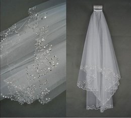 $enCountryForm.capitalKeyWord NZ - 2019 wedding dresses Charming Veu De Noiva White Ivory Bridal Veil Two Layer Soft Tulle Wedding Accessories Wedding Veils With Crystal