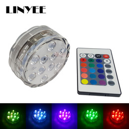 Waterproof Remote Control Light Switch Australia - 1PCS cheap 10 LED Submersible Light RGB Remote Control Waterproof LED Candle Lamp Floral Vase Base Light Party Decoration