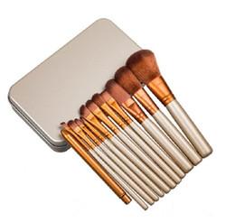 Chinese  Hot makeup 12 Pcs set brush NUDE 3 Makeup Brush kit Sets for eyeshadow blusher Cosmetic Brushes TooL DHL Free Shipping manufacturers