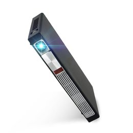$enCountryForm.capitalKeyWord Australia - Wholesale-Bluetooth Pico projector with li-battery 3000lumens android 4.4 Miracast mini LED wifi full HD 1080p DLP 3D projector proyector