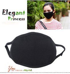 Wholesale 20pcs Anti Dust Cotton Mouth Face Mask Unisex Man Woman Cycling Wearing Black