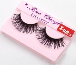 x lashes 2018 - x-up35 1Pair Women Makeup Beauty Thick 3D False Eyelashes popular messy nature Eye Lashes Long Black Handmade lashes Ext