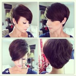 $enCountryForm.capitalKeyWord NZ - Celebrity short human hair wigs pixie Rihanna short hair wigs African American for Black Women chceap hair wigs hot sale