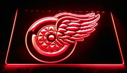 Wholesale LS1264 b Red Wings Bar Pub Logo Neon Light Sign jpg