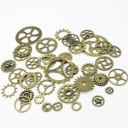 Gear made online shopping - 100pcs Vintage Metal Mixed Gears Charms For Jewelry Making Diy Steampunk Gear Pendant Charms