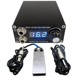Discount free foot clips - Professional Digital Dual Black Tattoo Power Supply Kit With 1pcs Foot Pedal Switch & 1pcs Clip Cord Free Shipping