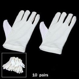 Coin gloves online shopping - SYB NEW Amico Pairs of Ladies Coin Inspection Gloves Solid White