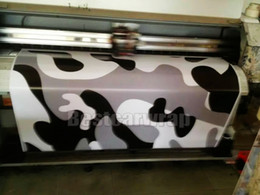 full carbon fiber car body Canada - Black white Grey Large Winter Snow Camo VINYL Full Car Wrapping Camouflage Foil Stickers with air free size 1.52 x 30m Roll Free Shipping