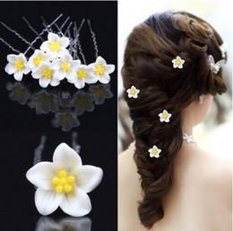 $enCountryForm.capitalKeyWord NZ - Wedding Bridal Hair Accessories Resin Alloy Yellow Egg Flowers U Pins Party Head Pieces Hair Pieces
