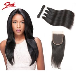 Sleek hair extensions wholesale online sleek hair extensions brazilian straight human hair bundle with lace closure unprocessed malaysian peruvian indian virgin human hair extension rebecca sleek brand pmusecretfo Gallery