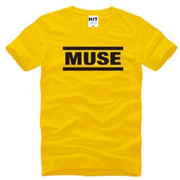 muse t shirt Canada - New Rock Band MUSE T Shirts Men Cotton Letter Printed Short Sleeve O-Neck Man T-shirt Fashion Male Hip hop Tops Tees S-3XL