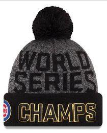 New Cubs Beanies Cap 2016 World Series Champions Caps Baseball Sport Knit  Hat . cfa8e60dfa1