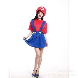 Disfraces Para Mujer Baratos-Mario Fancy Plumber niñas traje de Halloween Señora Adult Kids Super halloween trajes Hero Girls Halloween Fancy