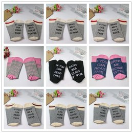 Wholesale Hot sale colors mens compression socks IF YOU CAN READ THIS Bring Me a Glass of Wine Beer Coffee socks for men women Christmas