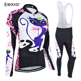 BXIO Brand Can Be Choose Winter Or Non-winter Cycling Jerseys Cat Pattern Bike  Clothing Women Ciclismo Ropa Invierno Mujer BX-044 107169e86