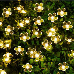 Wholesale Solar Lamps LEDs Flower Blossom Decorative Lights Waterproof white fairy Garden Outdoor Christmas solar led light