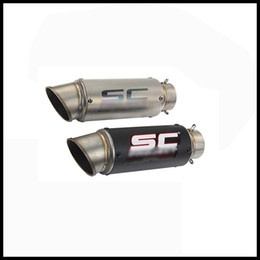 $enCountryForm.capitalKeyWord Australia - 51 mm   60.5 mm Universal Motorcycle Exhaust Muffler Pipe Silencer With Removable DB Killer