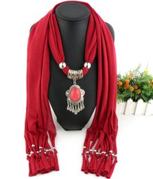 Wholesale Original design DIY fashion autumn winter scarf national pendant scarf women s necklace scarf shawl