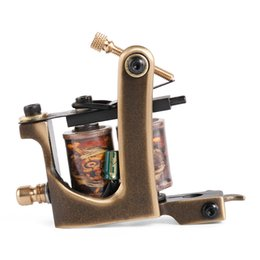 12 Shader Enrouleuse Pas Cher-Solong Brass Tattoo Machine Bobine de pistolet À la main 12 Wraps Copper Shader Professionnel pour Tattoo Supply M203-2