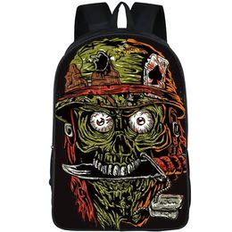 $enCountryForm.capitalKeyWord UK - Skull soldier backpack Bite knife daypack Cool street schoolbag Rap rucksack Sport school bag Outdoor day pack