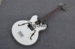$enCountryForm.capitalKeyWord NZ - free shipping new arrived Big John 5-strings hollow electric bass guitar in white made in China F-1881