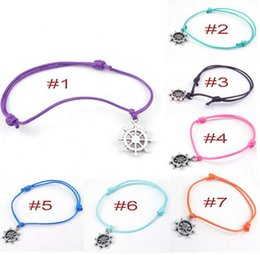 anchor hand bracelet 2019 - New arrival Pirate ship anchored alloy simple section hand - woven bracelet FB265 mix order 20 pieces a lot Charm Bracel