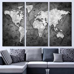 world map wall art panels nz 3 panels canvas art world map black and white