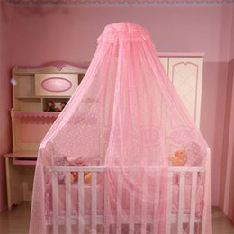 Barato Rendas Berço Cama-Baby Hanging Mosquito Net Princess Girl Dome Lace Crib Cama Canopy Insect Netting para Indoor Indoor Bedroom Decor