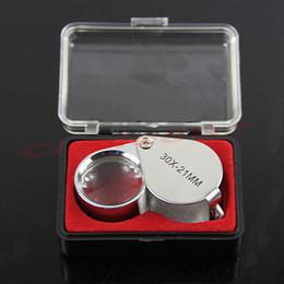 Опт 30x 21mm ювелиры глаз лупа лупа увеличительное стекло