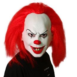 $enCountryForm.capitalKeyWord UK - Top Grade 100% Latex Pennywise Clown Mask 2017 New Movie It Masks Classic Scary Clown Mask Full Face Joker Mask Funny Toy