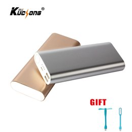 $enCountryForm.capitalKeyWord Canada - KuChong Portable Power Bank 12000 mAh 2 USB Charger External Battery Pack Powerbank for All Phone+ LED Light + Fan Fast Shipping